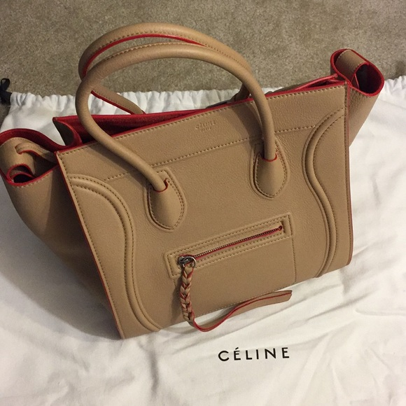 CELINE Med Luggage Phantom Bag NWT Camel 6d9f3ccd9585b